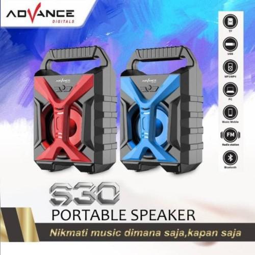 Foto Produk Speaker Bluetooth Portable Advance S30 Hi-Fi Big Bass Aux/TF Card/USB dari Yes235 mart