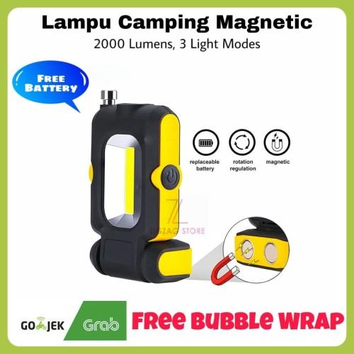 Foto Produk Lampu Emergency / Lampu Camping Magnetic COB 2000 Lumens dari ZigZag-Store