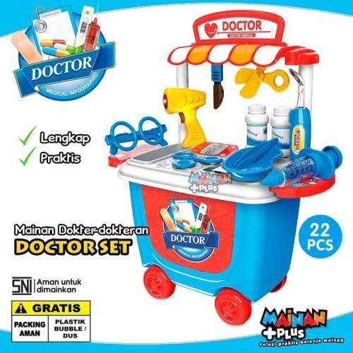 Foto Produk MAINAN DOKTER-DOKTERAN TROLI - CART DOCTOR SET - SNI dari MainanPlus