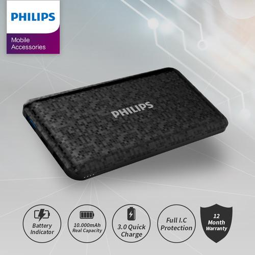 Foto Produk POWERBANK Philips 10.000 MAH DLP-6715 - Hitam dari Philips Mobile Acc