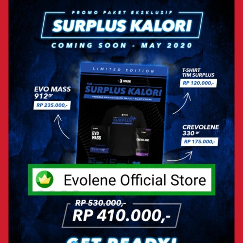 Foto Produk Paket SURPLUS EVOLENE BULKING KALORI dari Evolene Official Store