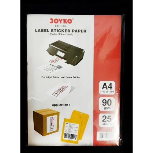 Foto Produk Joyko Label Sticker Paper A4 LSP-09 Kertas Stiker Label LSP09 dari CENTRO TRADING