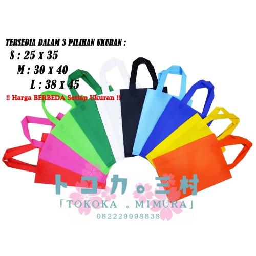 Foto Produk [Grosir] Tas Spunbond Polos Goodie Bag Handle Tali - Tas Eco Friendly - S - 25 x 35 cm dari Tokoka Mimura