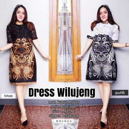 Foto Produk Dress Wilujeng Batik Wanita Motif Warna Seragam High Quality Katun dari aeleshag