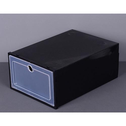 Foto Produk Kotak Sepatu Flip Shoe Box Shoe Boks Tempat Sepatu lipat Kotak Sepatu - Hitam dari Indotown