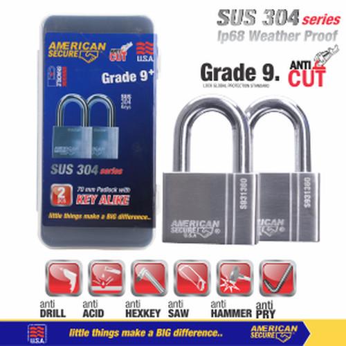 Foto Produk Gembok Key Alike 70mm x 2Pcs American Secure S931370K2 dari Teknik Mandiri indo