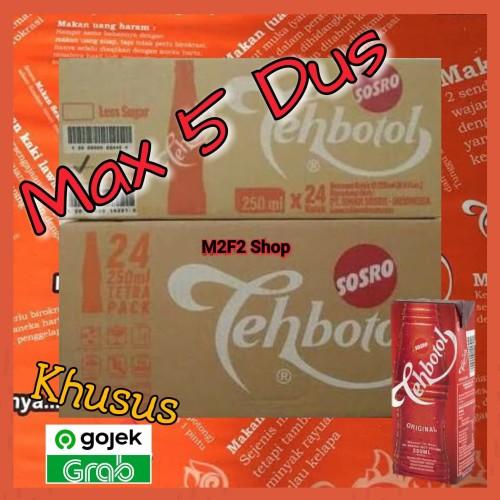 Foto Produk Teh Botol Kotak Sosro - 250 ml / Teh Kotak (Khusus Gojek/Grab) dari M2F2 Shop