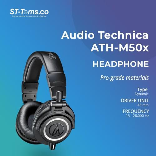 Foto Produk Audio Technica ATH-M50X Professional Monitor Headphones - Hitam dari ST-Toms.co