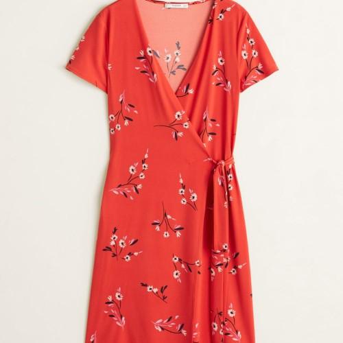 Foto Produk MANGO - DRESS CROSSA - PINK CORAL, L dari Mango Outlet