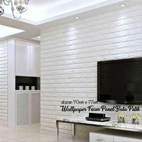 Foto Produk wallpaper 3d foam panel wallfoam 70x77 cm high quality - bata putih dari Deliciis Bangka