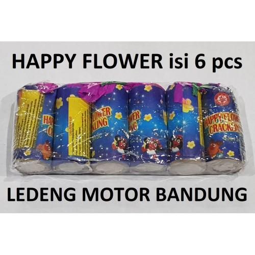 Foto Produk Happy Flower Ajeb Ajeb isi 6pc Kembang Api Anak Aman dari Ledeng Motor Bandung