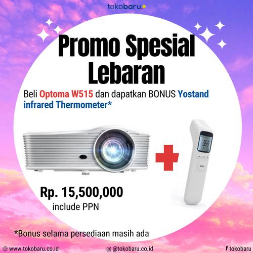 Foto Produk Projector Optoma W-515 (6000 ANSI LUMENS) proyektor Garansi Resmi dari Kohen Store