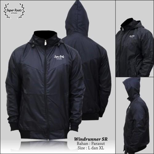 Foto Produk Jaket running windrunner pria/jaket windrunner pria/jaket parasut pria - Hitam dari artacollection13