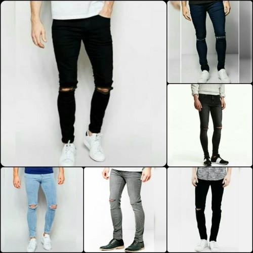 Foto Produk celana ripped jeans pria knee cut black dari AFL Factory