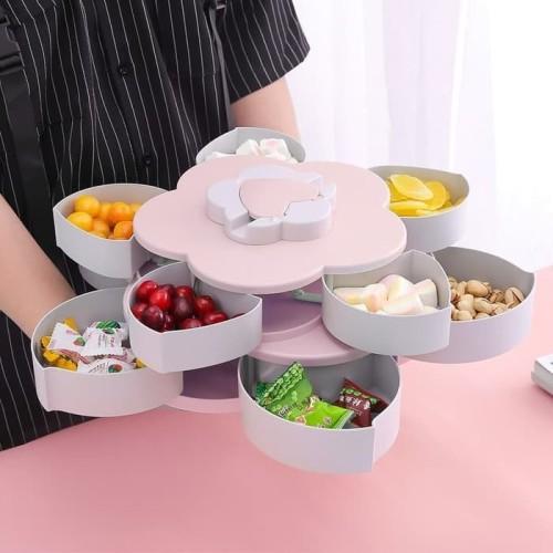 Foto Produk Toples Bunga Putar Wadah Kue Candy Box 2 Susun dari Blooming_deal