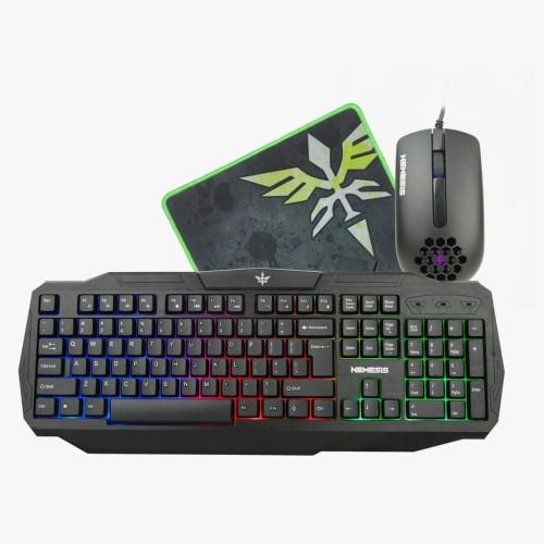 Foto Produk Paket Keyboard Mouse Mousepad Gaming NYK Artemis KC-200 dari Terabit Komputer
