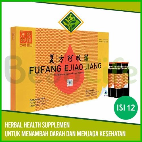 Foto Produk ✅Fufang Ejiao Jiang 12 Botol Obat Demam Berdarah Anemia Herbal dari BeauLife