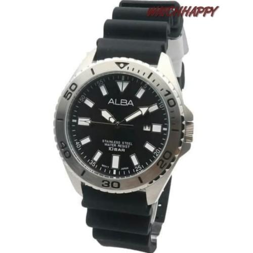 Foto Produk Jam Tgn ALBA ORIGINAL 100% AH9025X1 Sport Rubber Black AH9025 GARANSI dari Watchhappy