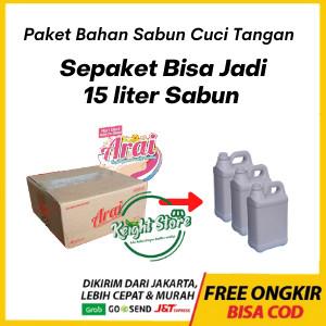 Foto Produk Arai Paket Formula Sabun Cuci Tangan Cair Hand Soap Wash Anti Virus dari Keight Store