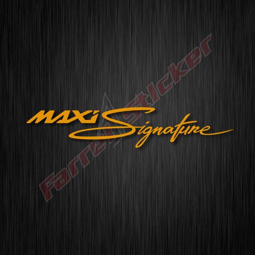 Foto Produk stiker sticker MAXI Signature NMAX, XMAX, LEXI - gold dari farrel sticker