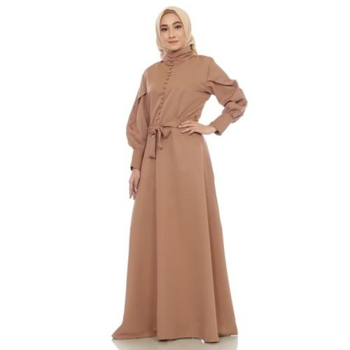 Foto Produk Dress Muslim Gamis Wanita Zahra Signature Long Dress Vienna - Biru, M dari Zahra Signature