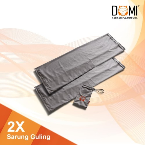 Foto Produk (2 Pcs) Domi Sarung Guling - Bolster Case - Putih dari Domi Bed