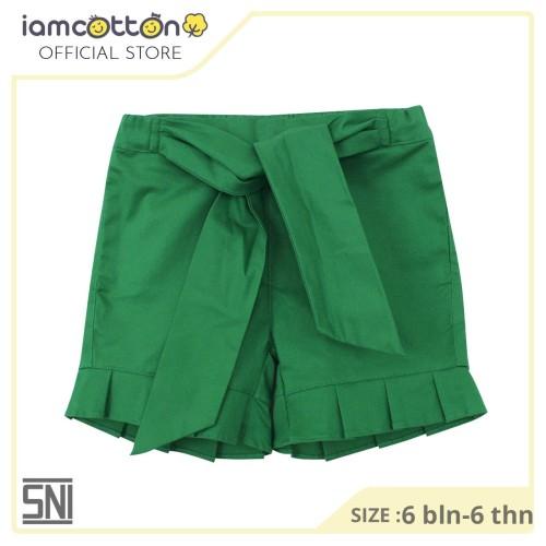 Foto Produk I am Cotton Ruffle Pants Green - 6 bulan dari I Am Cotton Official