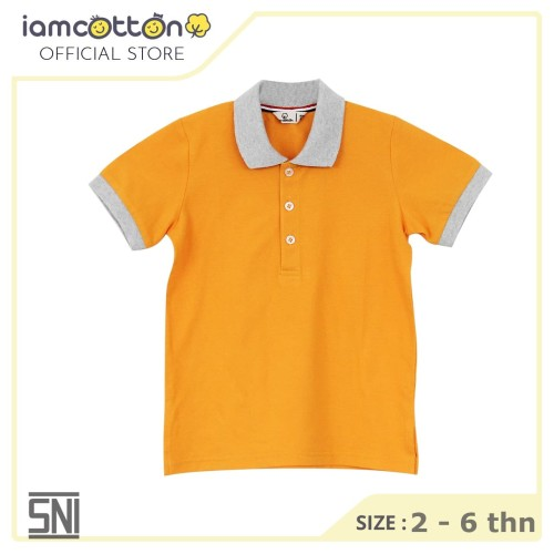 Foto Produk Baju Polo Anak / I am Cotton Polo Shirt Gold Fushion - 2 tahun dari I Am Cotton Official