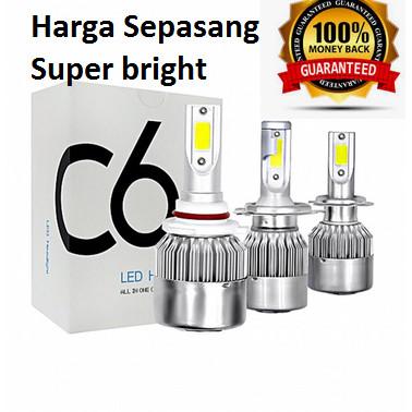 Foto Produk LAMPU LED MOBIL C6 H11 HB3 HB4 H7 ISI 2PC dari Rawawa Djojo Makmur