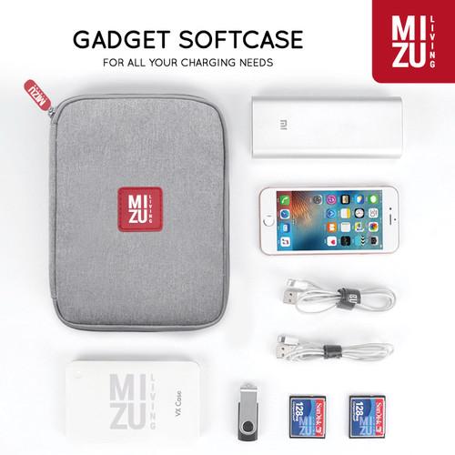 Foto Produk MIZU x BUBM MINI SINGLE Gadget Cable Organizer Bag Travel Softcase Tas - GRAY dari MIZU Living