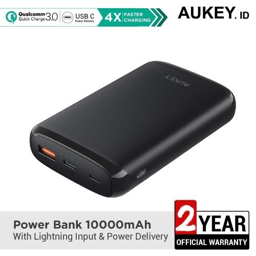 Foto Produk Aukey Powerbank 10000mAh with Lightning Input & Power Delivery-500382 dari Aukey Surabaya