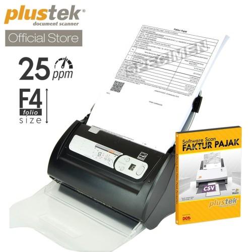 Foto Produk Scanner Plustek Faktur Pajak PS286 Plus - 25 Lembar/menit (F4/Folio) dari Plustek Indonesia