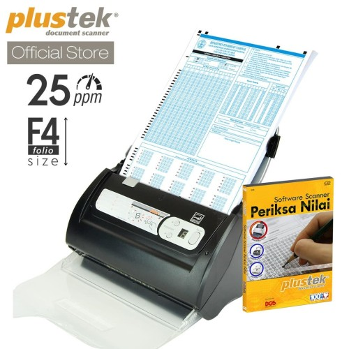 Foto Produk Scanner Plustek Periksa Nilai LJK PS286 Plus - 25 Lbr/mnt (F4/Folio) dari Plustek Indonesia
