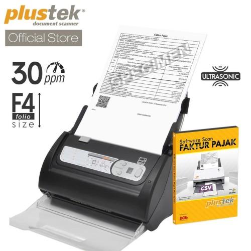 Foto Produk Scanner Plustek Faktur Pajak PS3060U - 30 Lembar/menit (F4/Folio) dari Plustek Indonesia