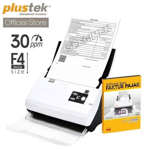 Foto Produk Scanner Plustek Faktur Pajak PS30D - 30 Lembar/menit (F4/Folio) dari Plustek Indonesia