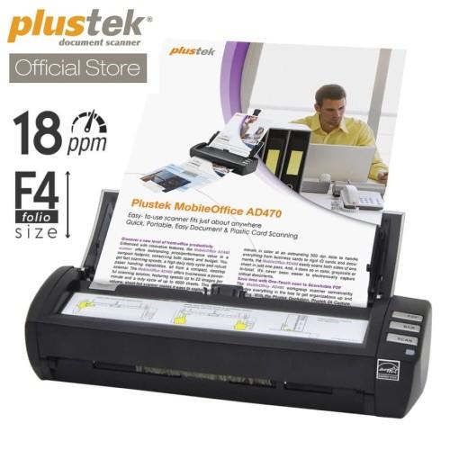 Foto Produk Scanner Plustek MobileOffice AD470 - 18 Lembar/menit (F4/Folio) dari Scanner Plustek