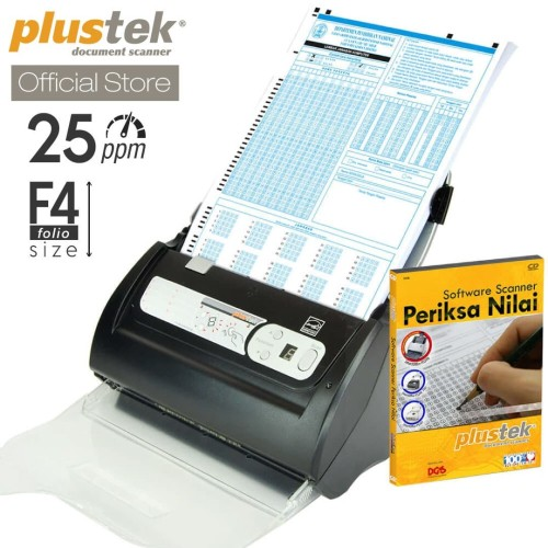 Foto Produk Scanner Plustek Periksa Nilai LJK PS186 - 25 Lembar/menit (F4/Folio) dari Plustek Indonesia