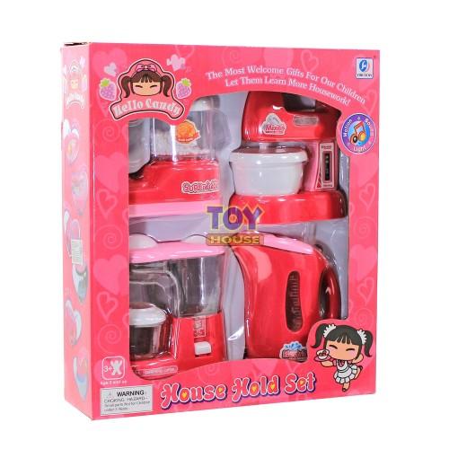 Foto Produk Mainan Mixer Blender Juicer Teko House Hold Set Pink - Mainan Memasak dari toy house