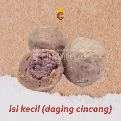 Foto Produk Baso Isi Kecil (Daging Cincang) - Baso Sapi Cihampelas - Halal dari Baso Sapi Cihampelas