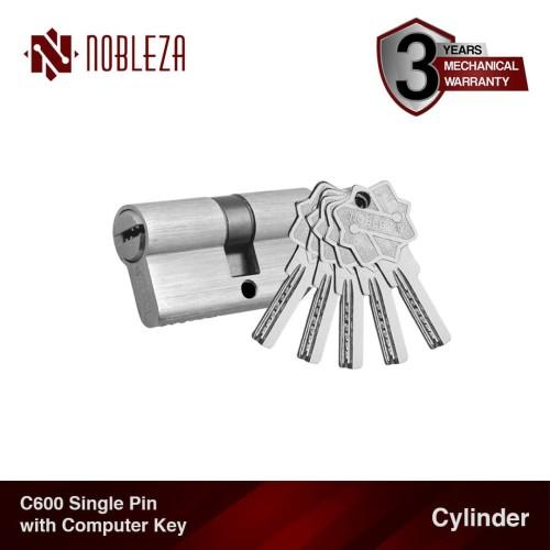 Foto Produk NOBLEZA Cylinder Single Pin Computer Key Silinder Kunci Komputer Pintu dari Nobleza Hardware