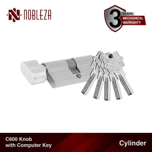 Foto Produk NOBLEZA Cylinder Knob Putar Computer Key Silinder Kunci Komputer Pintu dari Nobleza Hardware
