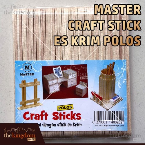 Foto Produk Master Craft Stick Es Krim Polos / Stik Kayu dari The Kingdom Shop