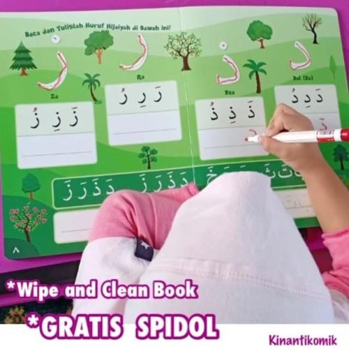 Foto Produk Buku Aktivitas Menulis Hijaiyah (Bisa Dihapus / Wipe and Clean Book) dari Kinantikomik