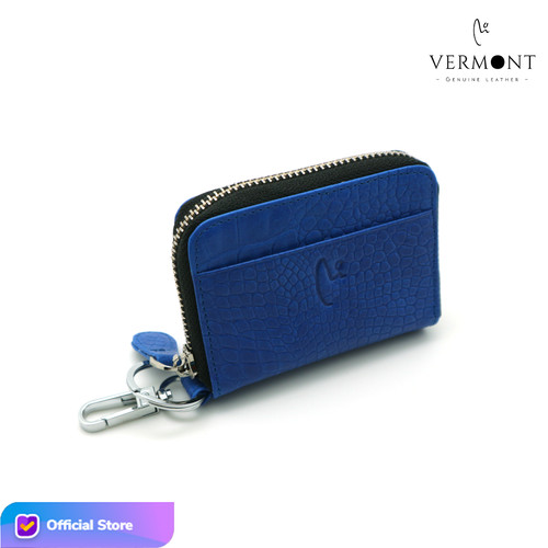 Foto Produk Dompet Kunci Keyless STNK Kulit Branded VERMONT V83 - G004 Original - Blue Croco dari VERMONT LEATHER