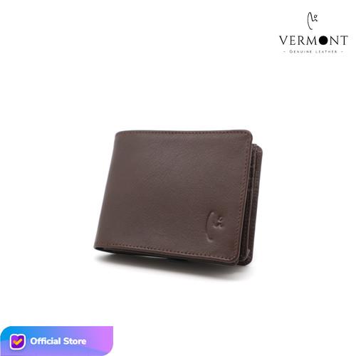 Foto Produk Dompet Pria Kulit Asli Branded VERMONT V83 - D002 Original - Simple Brown dari VERMONT LEATHER