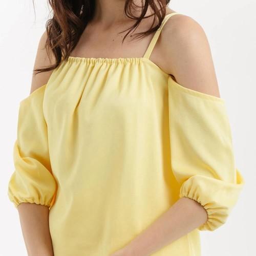 Foto Produk Cloth Inc Sabrina Off Shoulder Top - Kuning - XL dari Cloth Inc