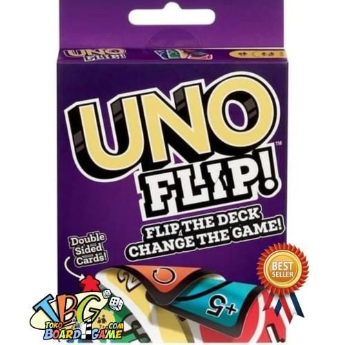 Foto Produk Paket Uno Flip + Pelindung Kartu ( Original ) Toko Board Game dari Toko Board Game