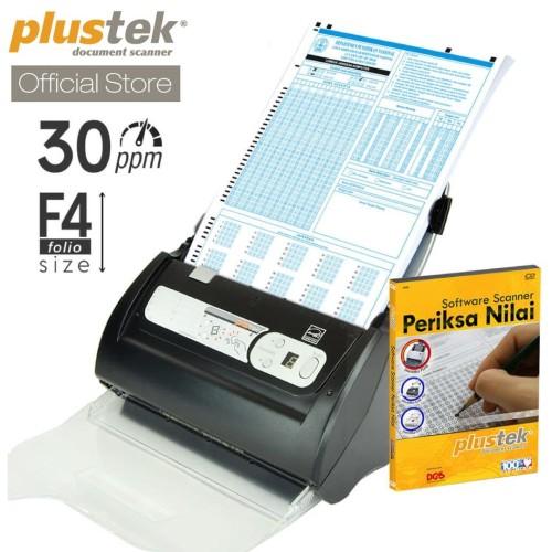 Foto Produk Plustek Scanner Periksa Nilai LJK PS388U - 30 Lembar/menit (F4/Folio) dari Plustek Indonesia