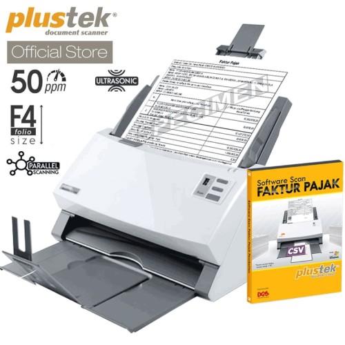 Foto Produk Scanner Plustek Faktur Pajak PS3150U - 50 Lembar/menit (F4/Folio) dari Plustek Indonesia