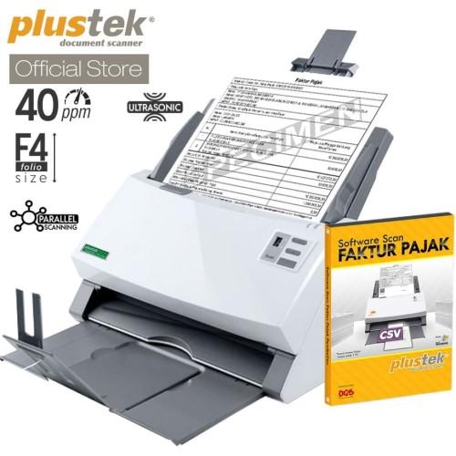 Foto Produk Scanner Plustek Faktur Pajak PS3140U - 40 Lembar/menit (F4/Folio) dari Plustek Indonesia